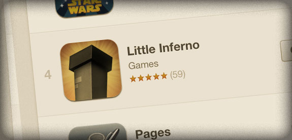Little Inferno #4 on iPad App Store