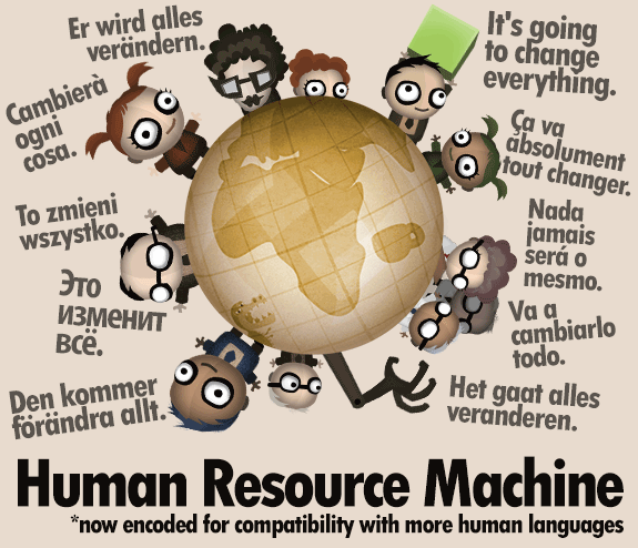 Human Languages of Human Resource Machine